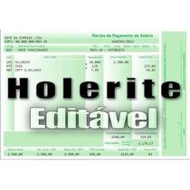 Holerite (contra Cheque) 100% Editável No Excel