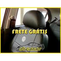 Capas De Banco Couro Ecologico Gol Voyage Fox Com Logo Vw