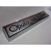 * Emblema Opala De Luxo Lateral Cromado Brasão Friso Grade