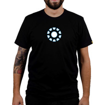 Camiseta Homem De Ferro - Camisa Reator Toni Stark