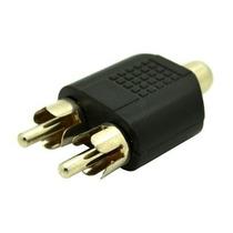 Conector Adaptador 2 Rca Macho X 1 Rca Fêmea Som Video Audio