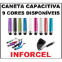5 Caneta Capacitiva Touch Screen P Iphone Tablet Ipad Galaxy
