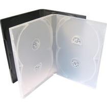 25 Estojo Capa Dvd Box Amaray Quadruplo Grosso Transparente