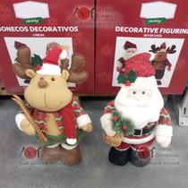 Enfeite, Decoração De Natal Natalina Bonecos Papai Noel Rena