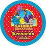 100 Adesivos P/ Latinhas 5 Cm - Lembrancinha Personalizada