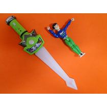 Espada Com Luz & Som E Relogio De Pulso Digital Do Ben 10
