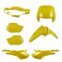 Kit Carenagem Completa Biz 100 Amarelo 98/99 Modelo Original