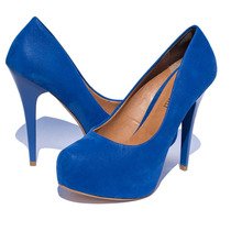 Peep Toe Meia Pata Azul Bic N°37 Coleção 2015