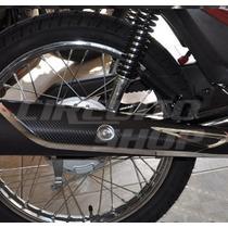 Adesivo Protetor Escape Moto Honda Titan Fan 150 2010 - 2013