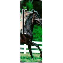 Adesivo Geladeira Cavalo Negro # 12 (porta Duplex)