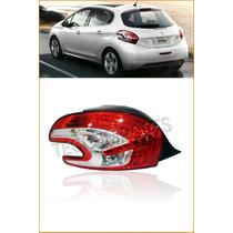 Lanterna Traseira Peugeot 208 Ano 2013 2014 Original Led L/e