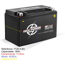 Bateria Teckpower Harley Davidson Jet Sky Yt20-4-bs