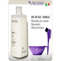 Ox 40 Vol. 1000ml Tec Italy Produto Importado-agua Oxigenada