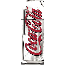 Adesivo Geladeira Coca Cola Logo Branco # 44 (porta Duplex)