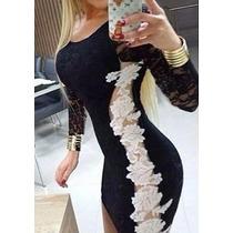 Mega Promoção Maravilhoso Vestido Em Renda Com Tule