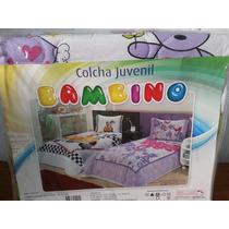 Kit Colcha 2pçs Solteiro Juvenil Bambino 2.20 X 1.50mts C/pt