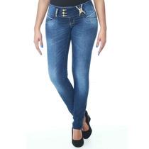 Calça Sawary Jeans Legging Feminina Com Strass