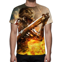 Camisa, Camiseta Game Metal Gear Solid Rising Revengeance