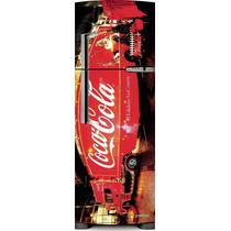 Adesivo Geladeira Coca Cola Caminhão # 47 (side By Side)