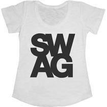 Baby Look Manga Curta Feminina T-shirt Swag