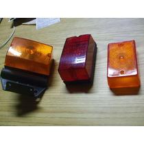 Lote 2 Lanternas E Uma Lente Para Carroção Reboque