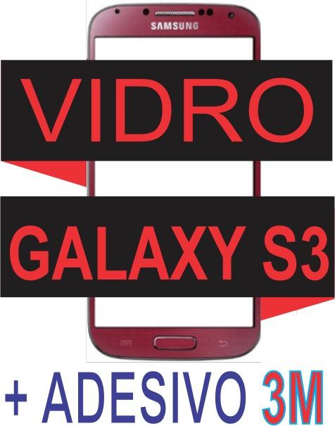 Tela Vidro Samsung Galaxy S3 I9300 Vermelho + Adesivo 3m