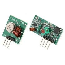 Conj. Transmissor + Receptor Rf 433 Mhz P. Controle Remoto