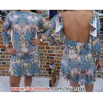Vestido Manga Longa Costa Nua