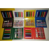 01 Kit Maleta Estojos 24 Peças Colorir Personalizados