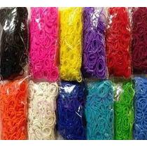 Kit Refil Rainbow Loom 5000 Elásticos 13 Cores +250 Fechos!