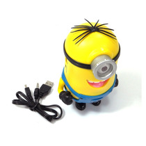 Caixa De Som Usb Minions Malvado Favorito Pen Drive Mp3 Sd