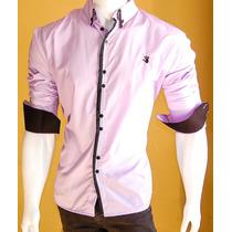 Camisa Social Slim Fit Masculina 100% Algodão Pronta Entrega