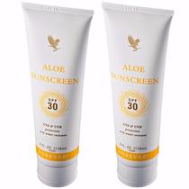 Kit 2 Aloe Sunscreen Forever Living Protetor Solar Fps 30