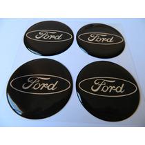 Adesivo Resinado De Calota Ford Preto