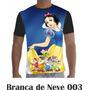 Camisa Camiseta Branca De Neve 003 Disney