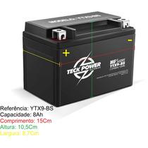 Bateria Teckpower Ytx9-bs Shadow Xt Cb 500 04 Cbr 900 Kansas