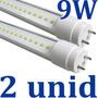 Kit 2x Lâmpada Led Fluorescente Tubo Tubular T8 60cm 9w