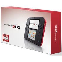 Novo Lacrado Console Portatil Nintendo 2ds Vermelho