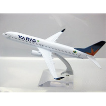 Avião Miniatura - Boeing 737-800 Varig - Em Metal - Promoção