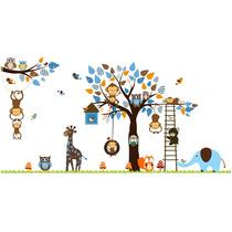 Adesivo Decorativo Balanço Zoo Foresta Quarto Infantil 3,00m