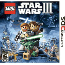 Lego Star Wars 3 The Clone Wars Nintendo 3ds Jogo Video Game