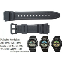 Pulseira P/ Casio Ae-1000 Ae-1100w Sgw-300 Sgw-400 W-s210