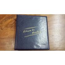 Amm/c - Álbum Azul P/ 450 Moedas Couro Eco. Collecione