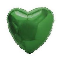 Balão Coração Verde Metalizado 45cm - 01 Unidade - Vazio
