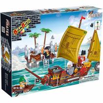 Bloco De Montar Banbao Pirata Navio Hourbor 8707 502 Peças
