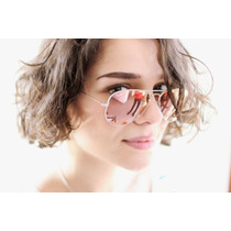 Óculos Ray Ban Rb3025 Brown Mirror Pink Rosa - Frete Grátis