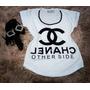 Camiseta Feminina Blusa T-shirt Personalizada - Chanel