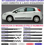 Acessorios Adesivo Lateral Fiat Punto Sporting Kit