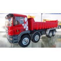 Caminhão Basculante Vermelho Hy Truck 1/50 Miniatura 5012-06