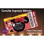 50 Unidades Minnie Convite Ingresso Vip